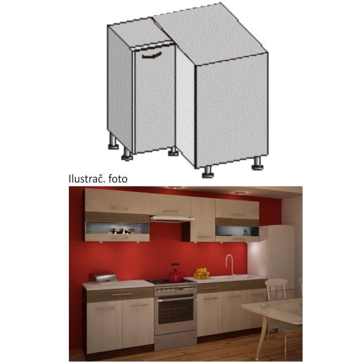 Kuchyňská skříňka, rigoleto light/dark, JURA NEW IA DN-88 * 88