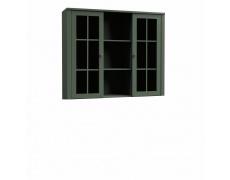 Nástavec na komodu W2D, vitrína, zelená, PROVANCE