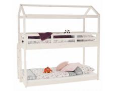 Montessori patrová postel, bílá, 90x200, Zefire