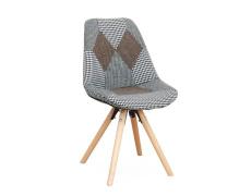 Designová stolička, látka patchwork, PEPITO TYP 10
