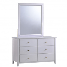 Komoda se zrcadlem, bílá, JAVA 6