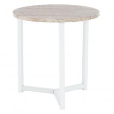 Příruční stolek, přírodní / bílá, CELINI