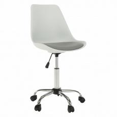 Kancelářská židle, bílá / šedá, DARISA NEW
