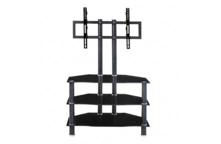 Moderní TV stolek, černá, ROSS