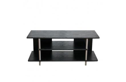 TV stolek, černá / stříbrná, Quido