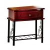 Noční stolek, tmavý dub/černá, CELESTA NEW