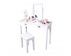Toaletní stolek, toaletka, bílá, RESINA