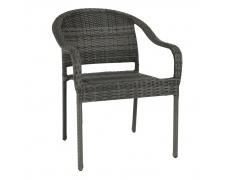 Zahradní stohovatelná židle, šedá, BINGA