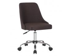Kancelářská židle, hnědá/chrom, EDIZ
