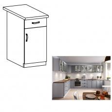 Spodní skříňka, šedá matná / bílá, pravá, LAYLA D40S1