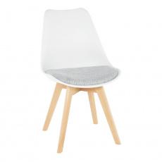 Židle, bílá / světle šedá, DAMARA