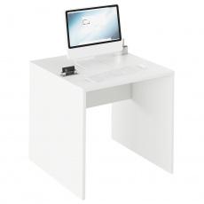 Psací stůl, bílá, RIOMA TYP 17