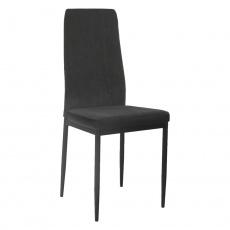 Jídelní židle, tmavě šedá/černá, ENRA