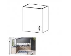 Horní skříňka, dub artisan/šedý mat, levá, LANGEN G60