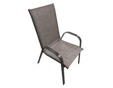 Stohovatelná židle, hnědý melír/hnědá, ALDERA