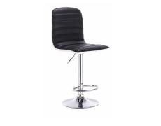 Barová židle, černá / bílá / chrom, Gerik