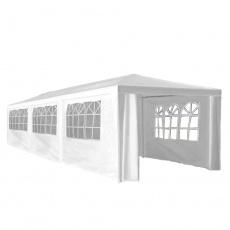 Zahradní párty stan, bílá, 3x9 m, TEKNO TYP 3 + 8 bočních stran