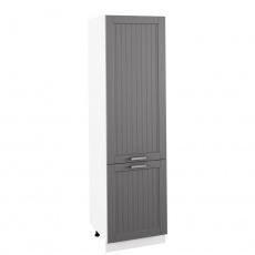 Potravinová skříňka, tmavě šedá/bílá, JULIA TYP 80