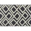 Koberec, krémovo/hnedá / vzor, 67x120, GILMER TYP 1