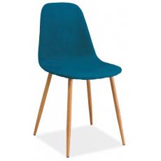 Jídelní židle FOX DUB MOŘSKÁ MODŘ