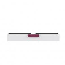 Úložný prostor pod postel, šedá / bílá / fialová, LOBETE 83