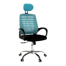 Kancelářské křeslo, modrá/černá, ELMAS