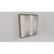 Skříň FLEXI 2 š.180cm v.240cm : 2x zrcadlo