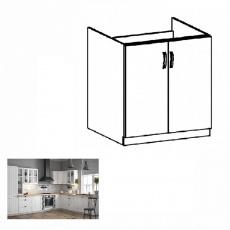 Spodní dřezová skříňka D80Z, bílá / sosna andersen, PROVANCE