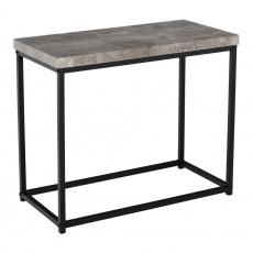 Příruční stolek, černá / beton, TENDER
