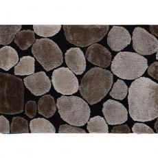Koberec, hnědá / černá, 100x140, PEBBLE TYP 2
