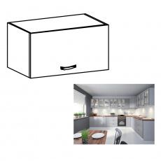 Horní skříňka, bílá / šedá matná, LAYLA G60KN