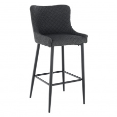 Barová židle, šedá/černá, CEZARIA