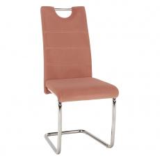 Jídelní židle, růžová Velvet látka, ABIRA NEW