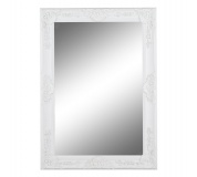 Zrcadlo, dřevěný rám bílé barvy, MALKIA TYP 9