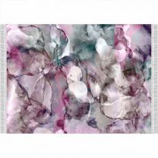 Koberec, růžová / zelená / krémová / vzor, 180x270, DELILA