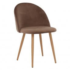 Jídelní židle, taupe hnědá, FLUFFY