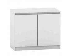 2 dveřová komoda, bílá, HANY NEW 008