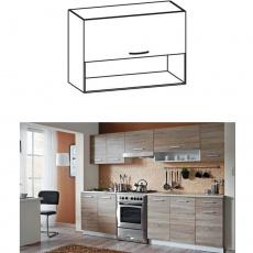 Skříňka do kuchyně, horní, dub sonoma/bílá, CYRA NEW G 80 O