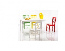 Jídelní židle CD 56 celodřevěná bílá