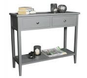 Konzolový stolek, světle šedá, VERITY