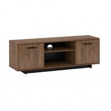 RTV stolek, dub bolzano / černá, DELIS B
