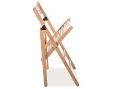 Jídelní skládací židle Smart II celodřevěná černá