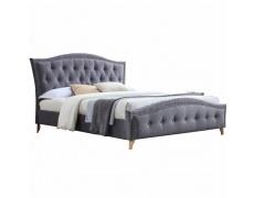 Manželská postel, šedá, 160x200, GIOVANA