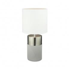 Stolní lampa, světlešedá / bílá, QENNY TYP 19