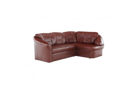 Luxusní sedací souprava, kůže / ekokůže hnědočervená, pravá, LAREDO