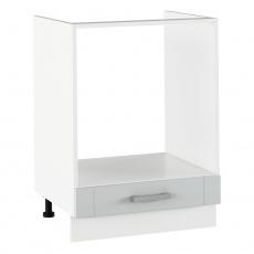 Spodní sporáková skříňka, světlešedá/bílá, JULIA TYP 58