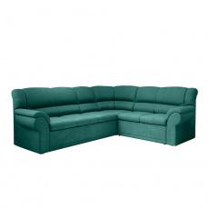 Rohová rozkládací sedací souprava, smaragdová, pravá, AMELIA