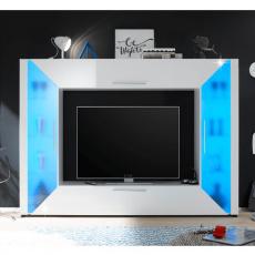 TV a media stěna, bílá extra vysoký lesk / bílá, ADGE