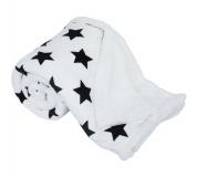 Oboustranná beránková deka, vzor hvězdy, 150x200, SEOLA