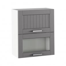 Horní skříňka, tmavě šedá/bílá, JULIA TYP 8